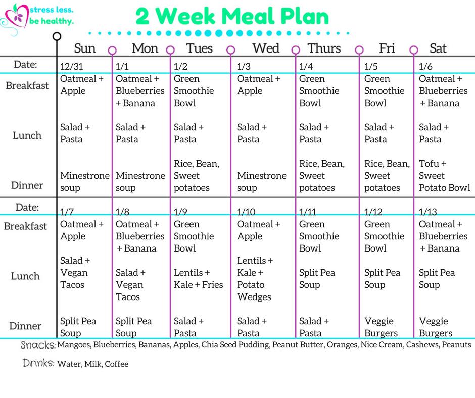 2 week meal plan