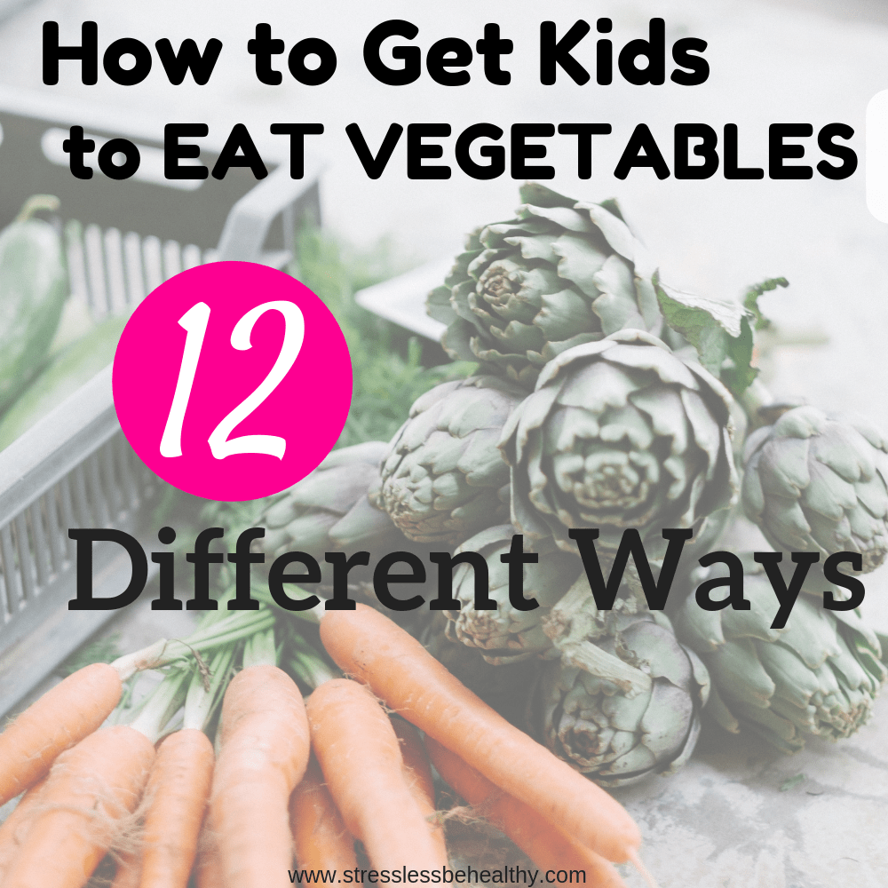 brussel sprouts and carrots, to help kids eat veggies or vegetables