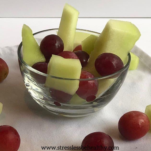 fruit salad honeydew grapes