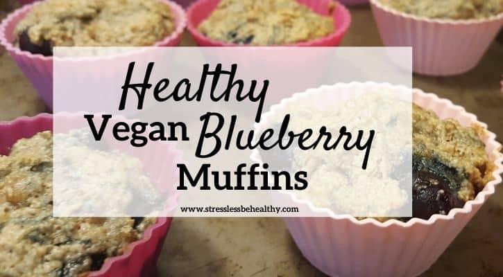 Healthy Vegan Blueberry Muffins