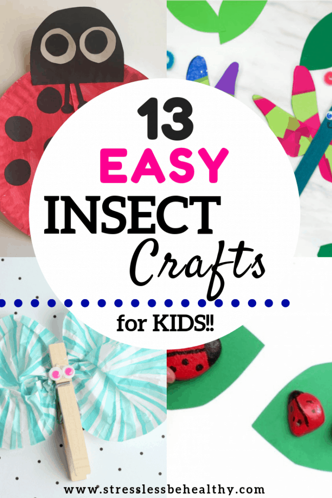 collage of insect crafts for kids, bug craft,s butterfly crafts, lady bug crafts, dragon fly crafts