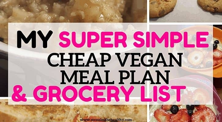 super cheap vegan meal plan and grocery list 2