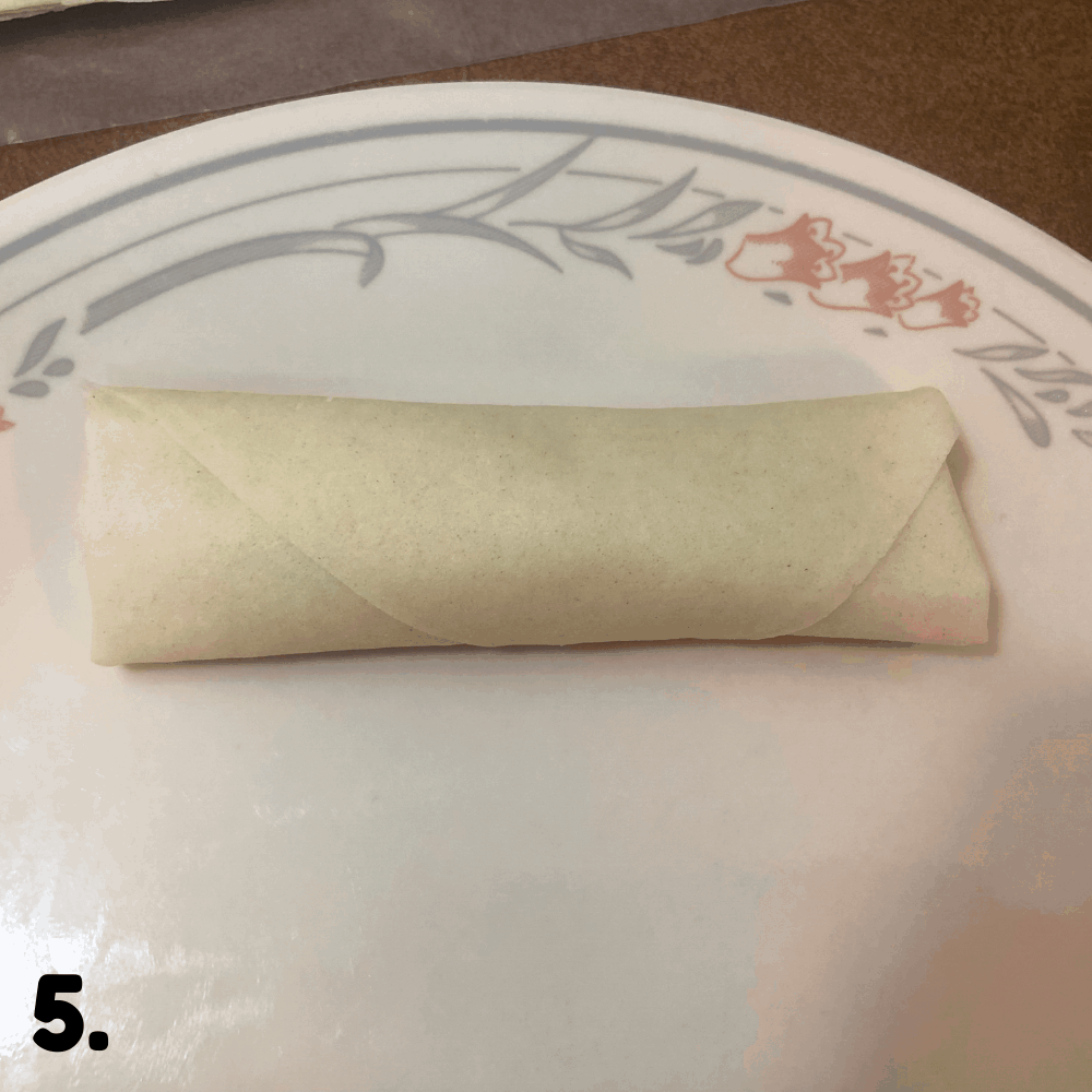 done rolling spring rolls