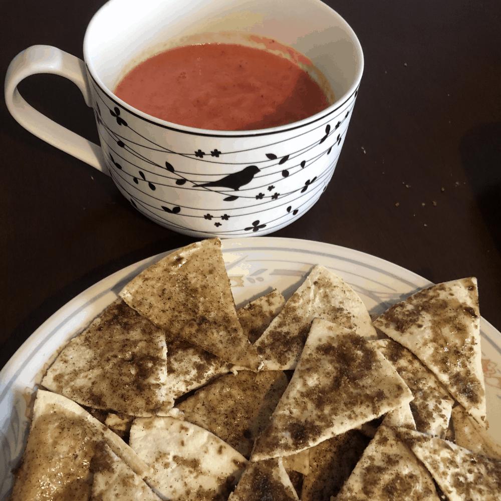 sugar and cinnamon tortilla chips
