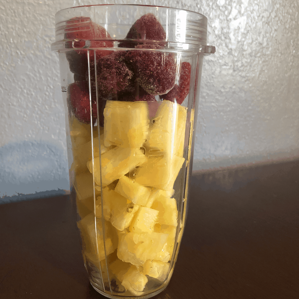 strawberry and pineapple fruit dip
