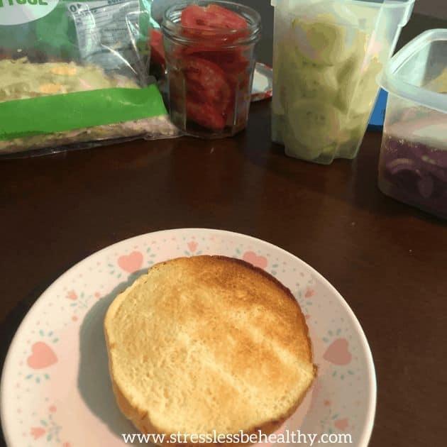 toasted bun for veggie sandwich