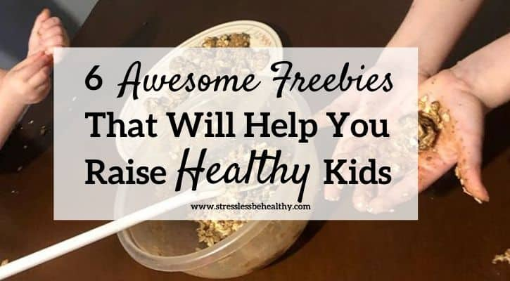 raise healthy kids freebies, kids making energy bites by themselves