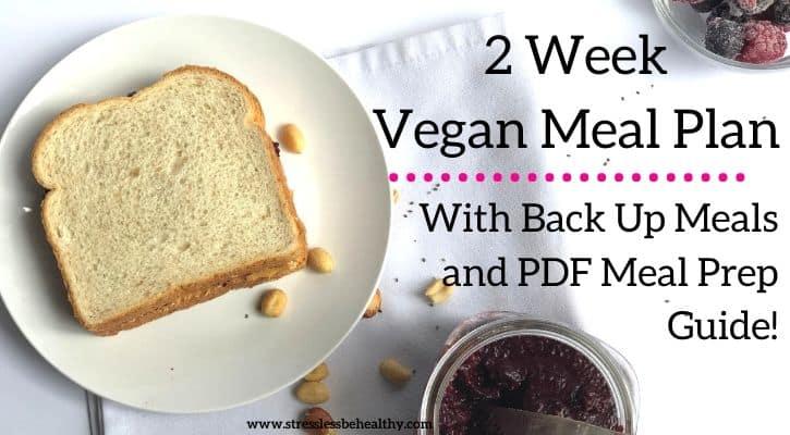 2 week vegan meal plan