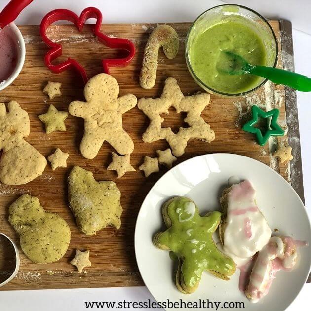 Vegan Sugar Cookie Recipe For Christmas For Kids!! avocado sugar cookies, avocado frosting, strawberry frosting