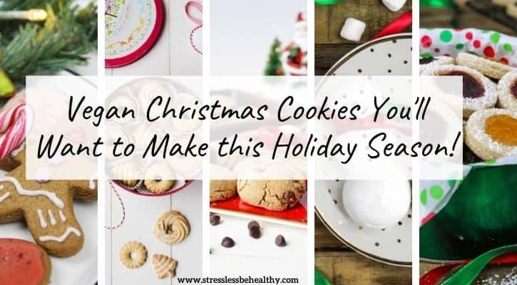 vegan christmas cookies for holiday season