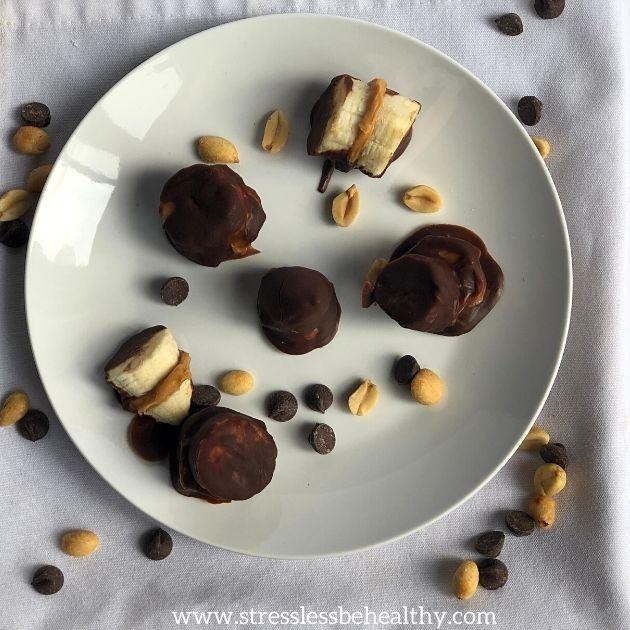 Chocolate Covered Banana Bites