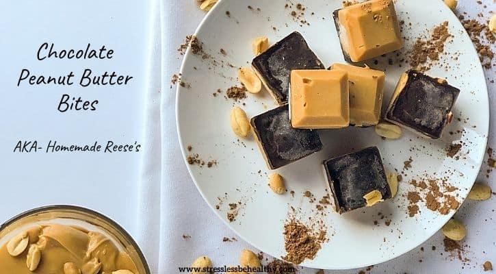 Chocolate Peanut Butter Bites (AKA- Homemade Reese's)