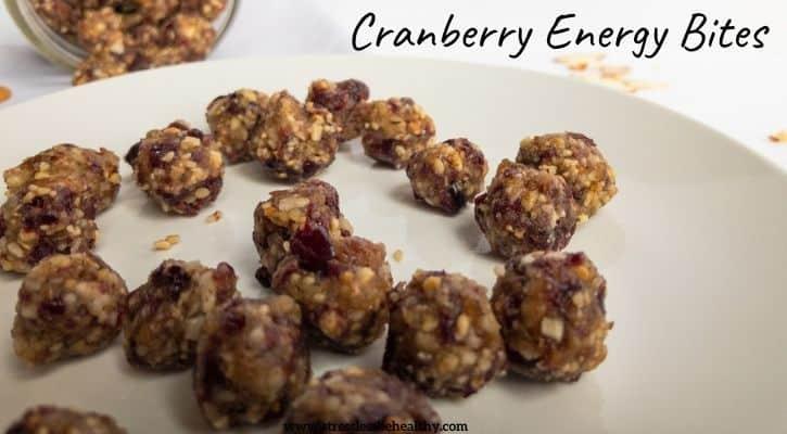 cranberry energy bites
