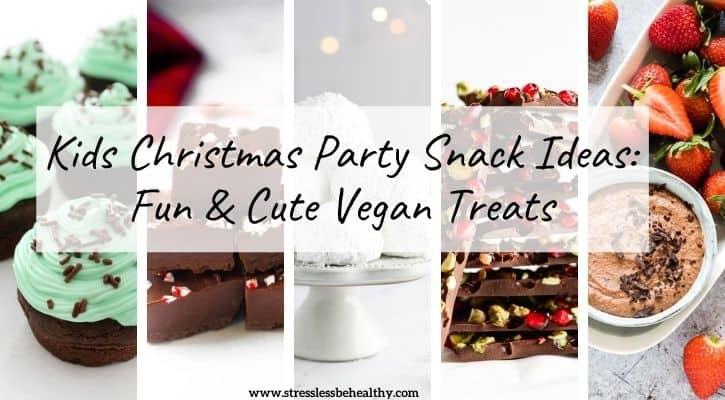 vegan christmas party treats