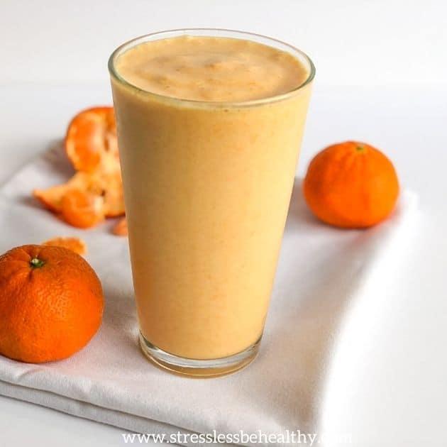 vegan orange creamsicle smoothie h