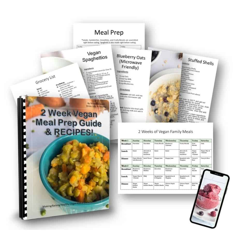 kid approved vegan family meal plan, guide, & recipes