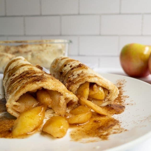 vegan apple pie burritos recipe