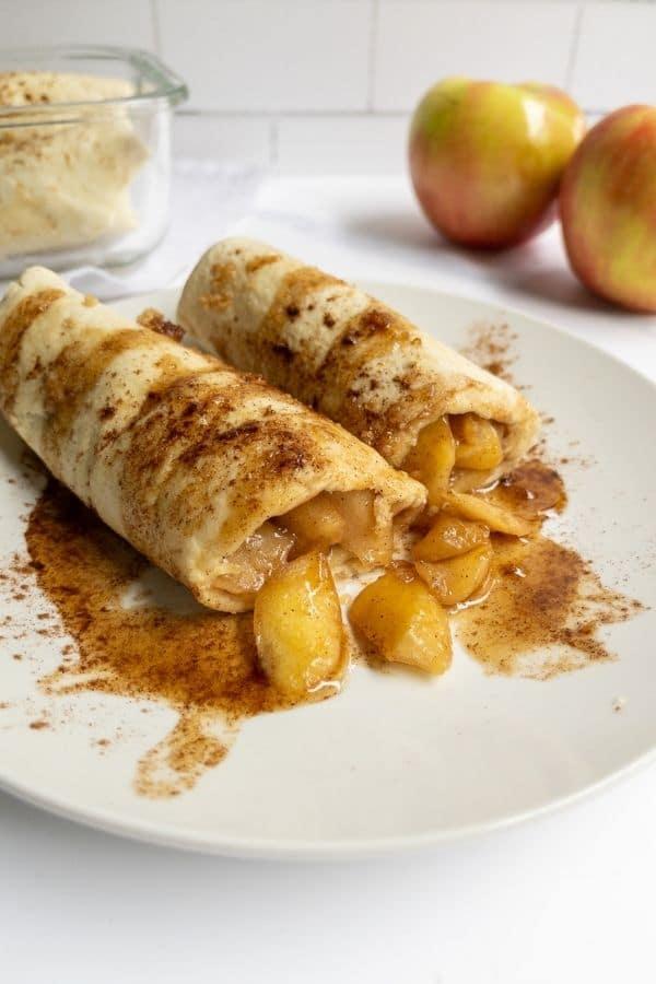 vegan apple burritos recipe