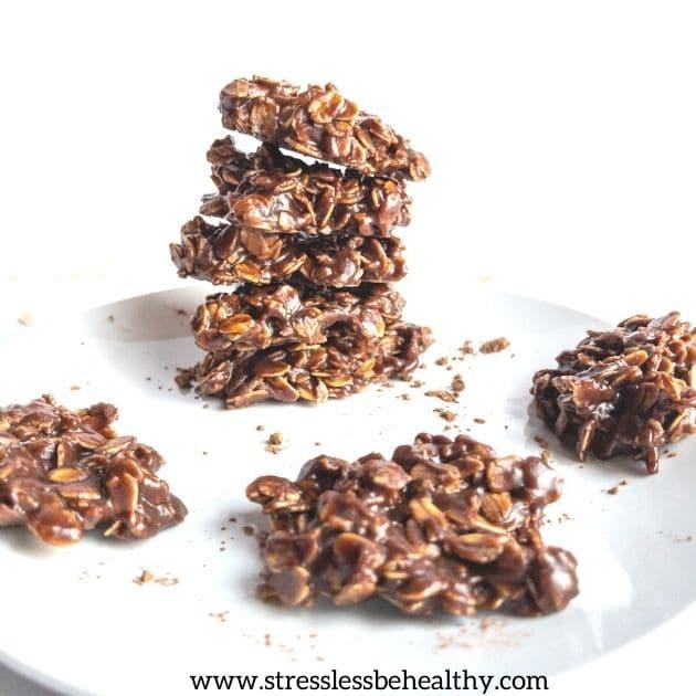 vegan no bake chocolate oatmeal cookies