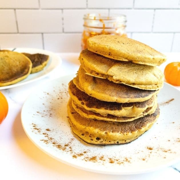 vegan pumpkin pancakes oil free